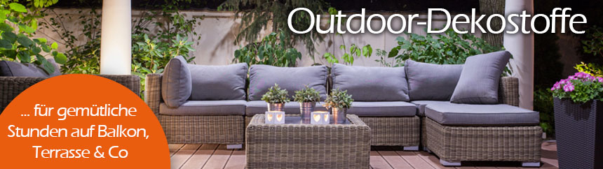 Outdoor-Dekostoffe