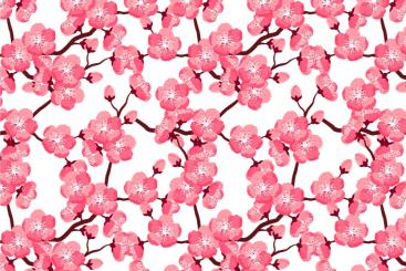 Satin - Kirschblüte