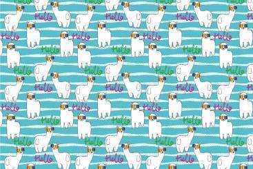 Polarfleece-Stoff - Regenbogen-Lama