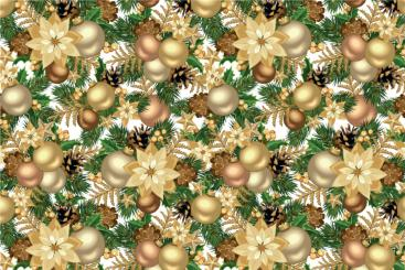 Halbpanama - Weihnachtskugeln