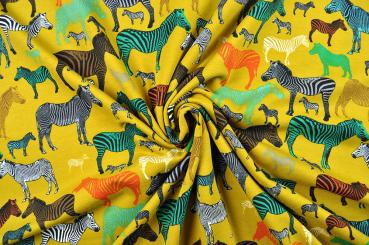 Zebras kreuz und quer - Jersey-Sweatstoff