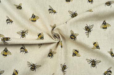 Dekostoff Leinen-Look - Bienenschwarm