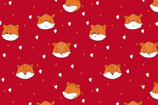 Softshell Premium - Liebe Füchse Rot