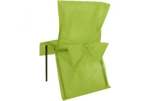 Stuhlhusse Vlies mit Schleife Grün
