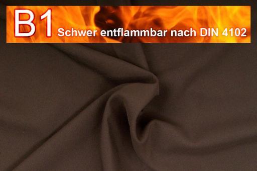 Allround Stoff - schwer entflammbar Braun