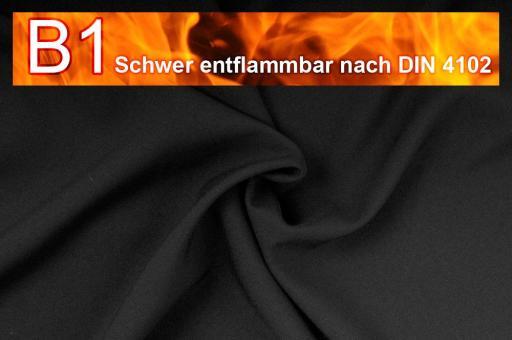Allround Stoff - schwer entflammbar Schwarz