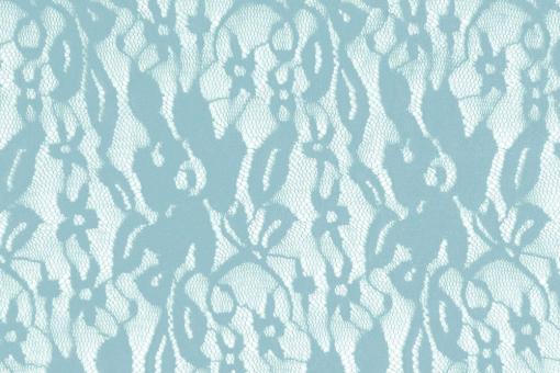 Wäsche-Spitze Stretch - Flora Hellblau