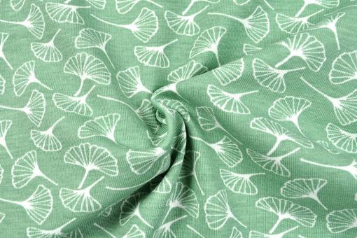Jerseystoff - Ginkgo-Blätter