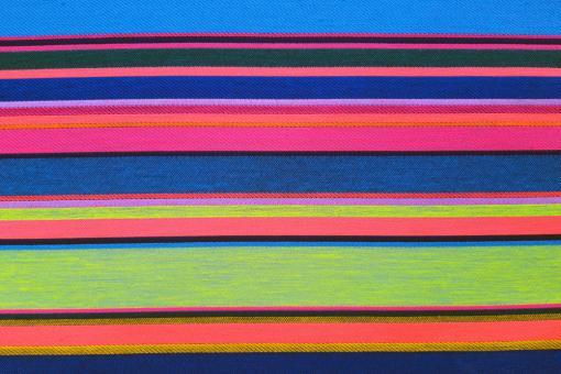 Jacquard Dekostoff - Neon Stripes