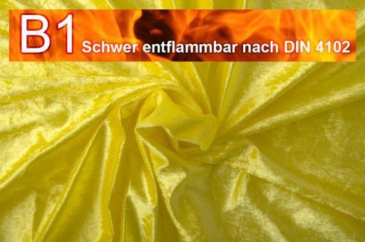 Pannesamt schwer entflammbar Gelb