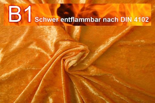 Pannesamt schwer entflammbar Orange