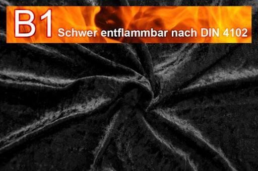 Pannesamt schwer entflammbar Schwarz