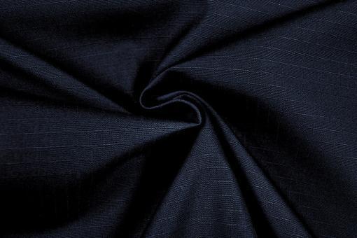 Berufsbekleidungsstoff - Fine Stripes - Nachtblau - B-Ware