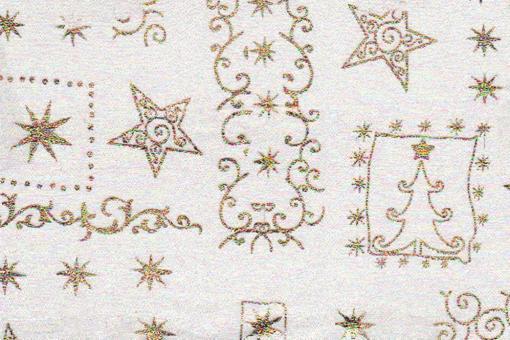 Organza Weihnachtsmotive - Weiß