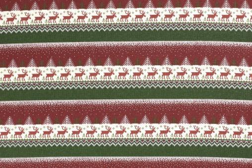 Weihnachts-Sweatstoff - Norwegermotiv - Bordeaux/Grün