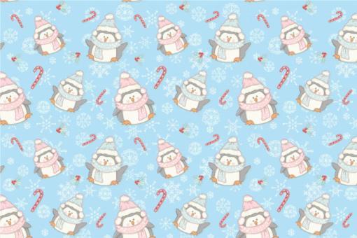 Wellness-Fleece - Pinguin Bibber Hellblau