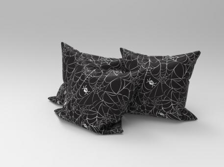 Allround-Stoff - Gruselspinnen - Schwarz/Weiß