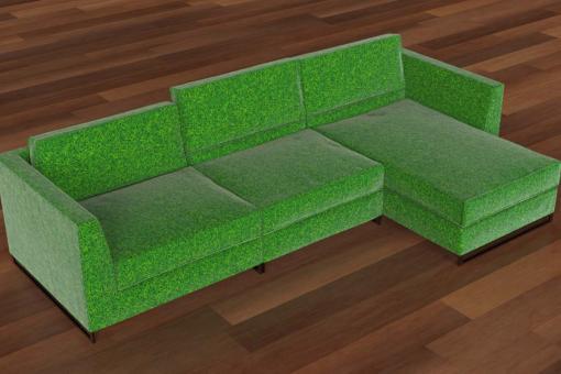 Möbel-Samtstoff - Rasen