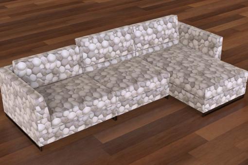 Möbel-Samtstoff - Kiesel